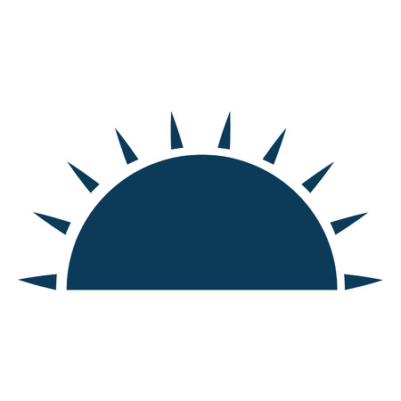 isolated half sun icon vector illustration graphic design