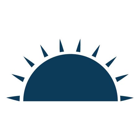 Isolierte halbe Sonne Symbol Vektor-Illustration Grafik-Design Standard-Bild - 82262060