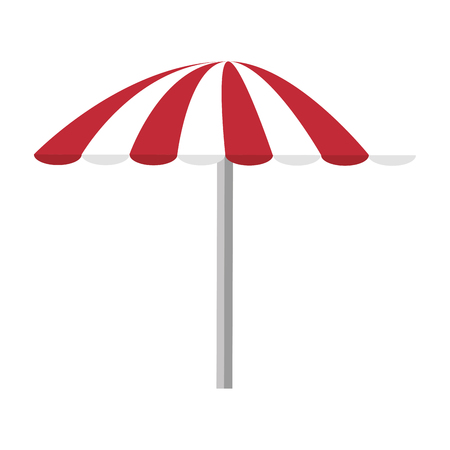 geïsoleerde strand paraplu pictogram vector illustratie grafisch ontwerp Stock Illustratie