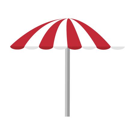isolated beach umbrella icon vector illustration graphic design