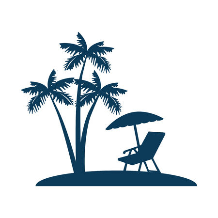 isolated beach place icon vector illustration graphic design Illustration