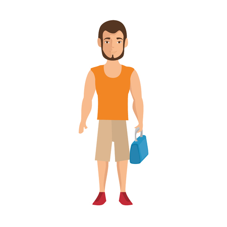 handsome men: isolated cute standing man icon vector illustration graphic design