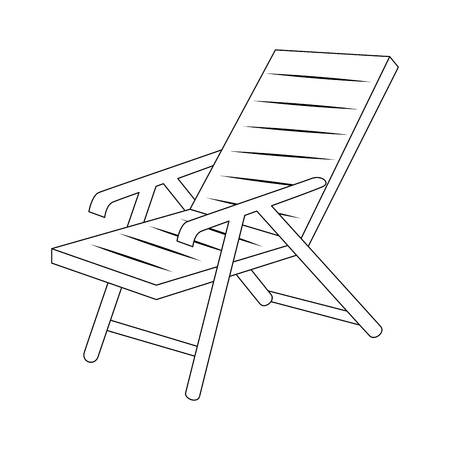 geïsoleerde strandstoel pictogram vector illustratie grafisch ontwerp