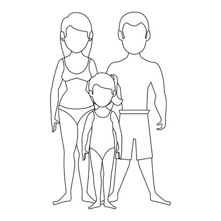 isolated cute beach family icon vector illustration graphic design Illustration