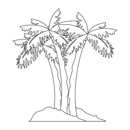 isolated beach palms icon vector illustration graphic design Ilustração