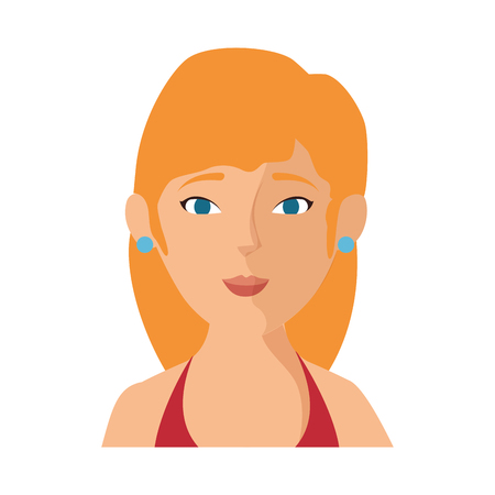 isolated blondie women face icon vector illustration graphic design Illustration