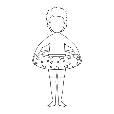 Isolated cute kid icon vector illustration graphic design