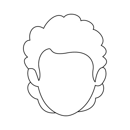 Isolated cute man face icon vector illustration graphic design