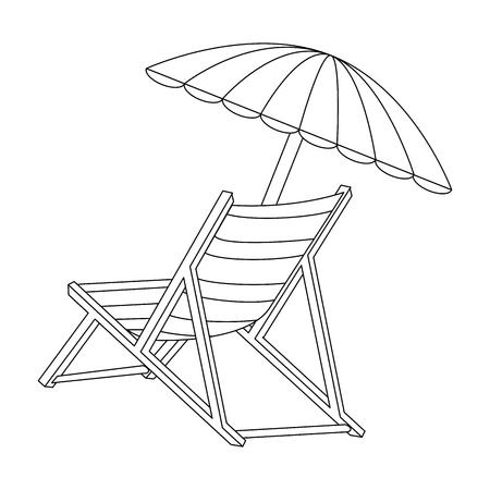Aislado silla de playa icono ilustración vectorial diseño gráfico Foto de archivo - 82261471