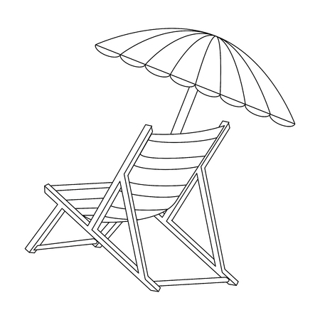 isolated beach chair icon vector illustration graphic design Banco de Imagens - 82261471