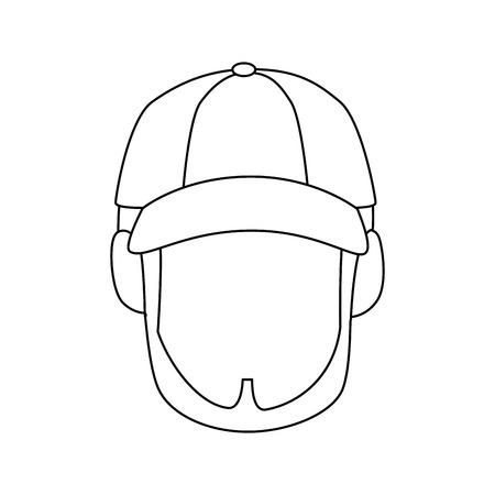 Homme mignon isolé visage icône vector illustration graphisme Banque d'images - 82265592