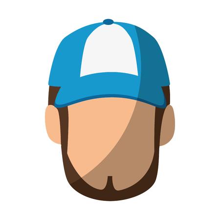 Homme isolé visage icône vector illustration design graphique Banque d'images - 82261703