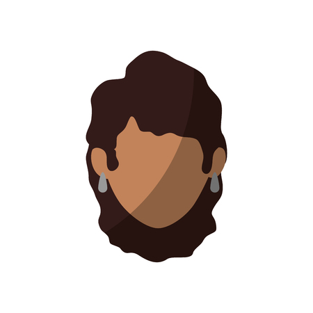 isolated women face icon vector illustration graphic design Illustration