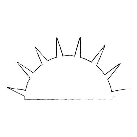 isolated half sun icon vector illustration graphic design