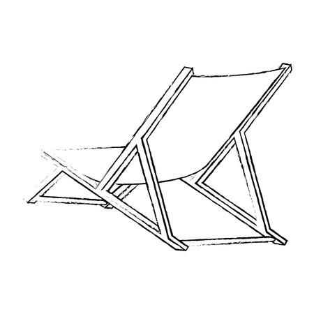 隔離されたビーチの椅子のアイコン ベクトル イラスト グラフィック デザイン