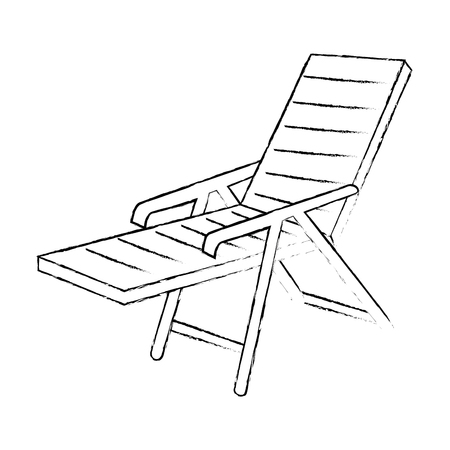 isolated beach chair icon vector illustration graphic design