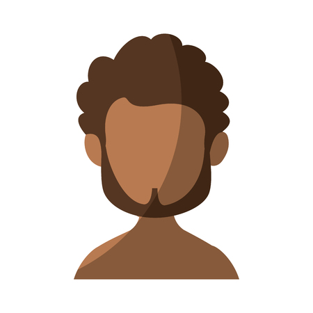isolated man face icon vector illustration graphic design Illustration