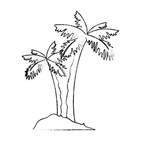 isolated beach palms icon vector illustration graphic design Иллюстрация