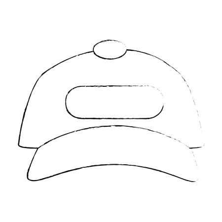 Diseño gráfico lindo del ejemplo aislado del vector del icono de la playa de la tapa Foto de archivo - 82261832