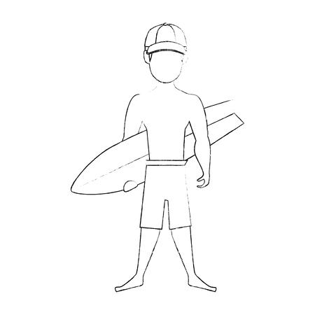 isolated standing man cartoon icon vector illustration graphic design
