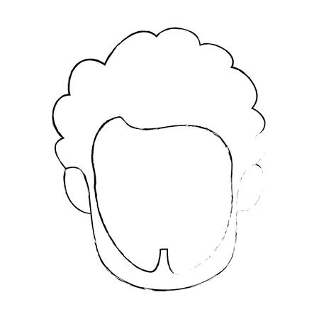 Visage mignon isolé icône vecteur de conception d & # 39 ; image graphique Banque d'images - 82261978