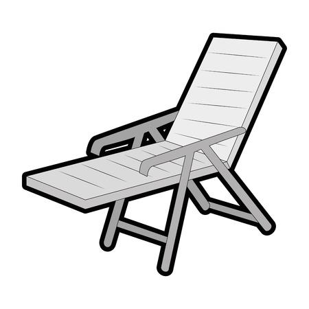 Aislado silla de playa icono ilustración vectorial diseño gráfico Foto de archivo - 82262031