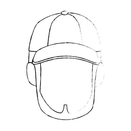Visage mignon isolé icône vecteur de conception d & # 39 ; image graphique Banque d'images - 82262492