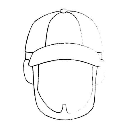 Visage mignon isolé icône vecteur de conception d & # 39 ; image graphique Banque d'images - 82262428