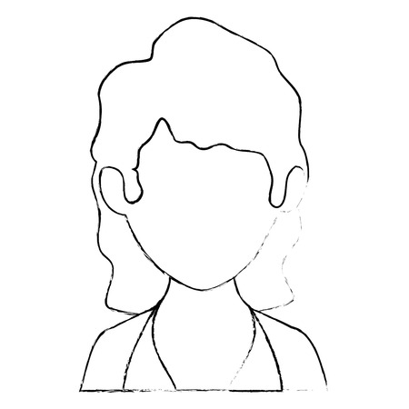 isolated women face icon vector illustration graphic design Иллюстрация
