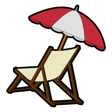 deisgn: isolated beach chair icon vector illustration graphic design