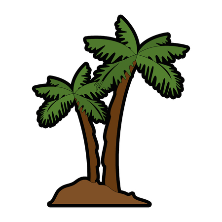 panoramic beach: isolated beach palms icon vector illustration graphic design Illustration