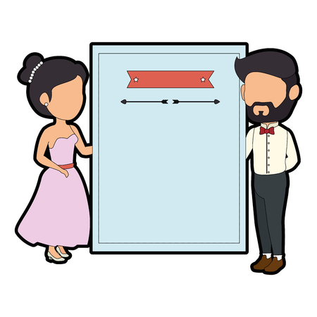 isolated newlywed couple love wall icon vector illustration graphic design