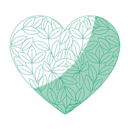 geïsoleerde blad boom hart pictogram vector illustratie grafisch ontwerp