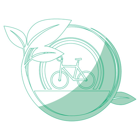 isolated bicycle round icon vector illustration graphic design