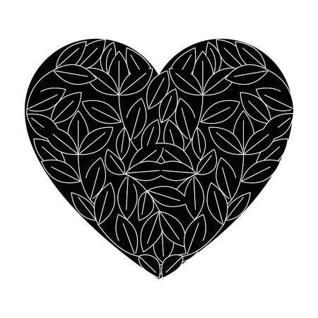 isolated sheet tree heart icon vector illustration graphic design