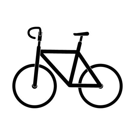 分離のかわいい自転車のアイコン ベクトル イラスト グラフィック デザイン  イラスト・ベクター素材