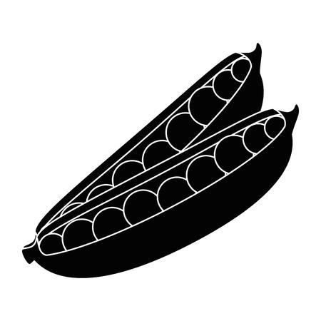 isolated cute vetch icon vector illustration graphic design