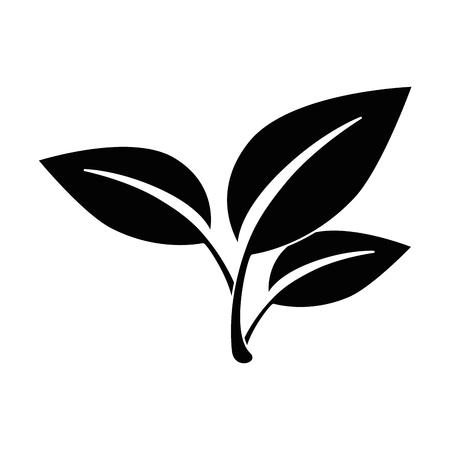 Illustrazione vettoriale icona del foglio di albero isolato illustrazione vettoriale illustrazione grafica Archivio Fotografico - 82263523