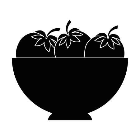 격리 된 야채 그릇 아이콘 벡터 일러스트 그래픽 디자인