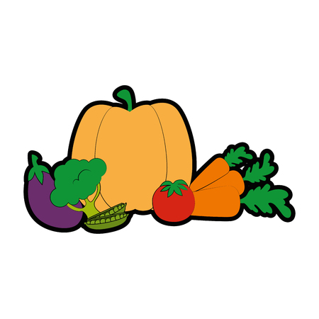 isolated cute vegetables icon vector illustration graphic design