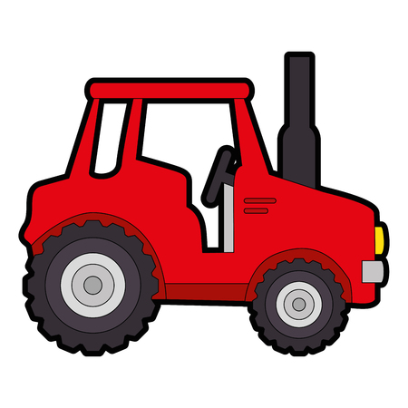 isolted cute shield tractor icon vector illustration graphic design Stok Fotoğraf - 82263574