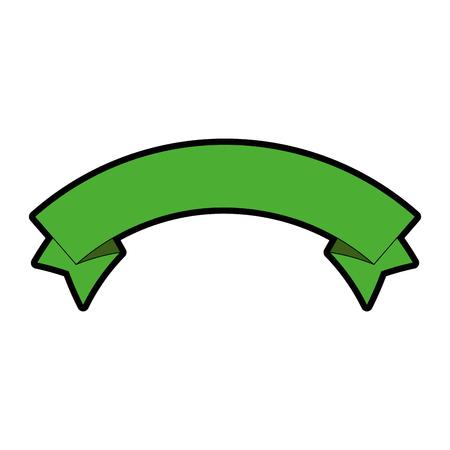 geïsoleerde schattige banner pictogram vector illustratie grafisch ontwerp Stock Illustratie