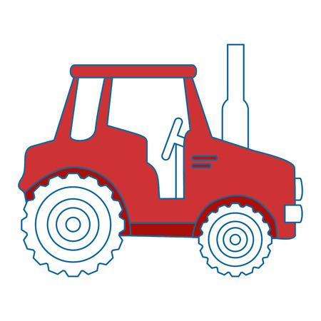 isolted cute shield tractor icon vector illustration graphic design Imagens - 82265719