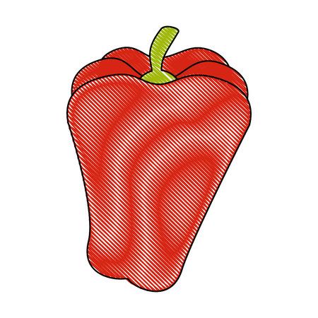 isolated cute pepper icon vector illustration graphic design Illustration