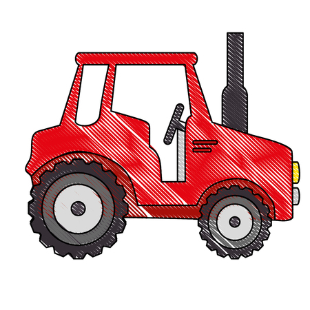 isolted cute shield tractor icon vector illustration graphic design Imagens - 82263796