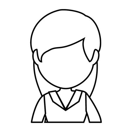 isolated cute businesswoman icon vector illustration graphic design 版權商用圖片 - 82265742