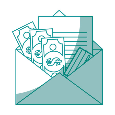 isolated money envelope icon vector illustration graphic design