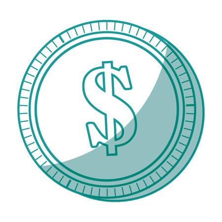 isolated money coin icon vector illustration graphic design
