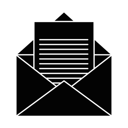 isolated open envelope icon vector illustration graphic design Illustration