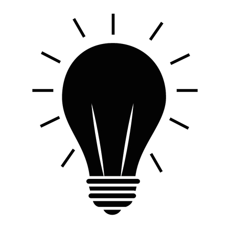 isolated light bulb icon vector illustration graphic design Ilustrace